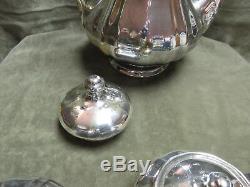 Ensemble De Café En Porcelaine Porcelaine De Chine Rosenthal Plaquée En Argent Sterling