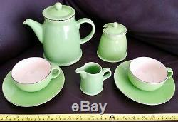 Ensemble De Café Vintage English London Pottery Oakleaf Absolument Magnifique