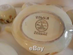 Ensemble De Thé Et De Café De Qualité Supérieure, Chine, Vintage, Feuille D'automne De 14 Pièces Par Hall's