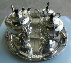 Ensemble Thé / Café Vintage 5 Pièces Paramount Triple Plaque Argentée Epns (b)