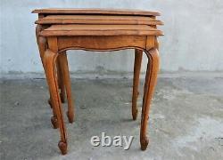 Ensemble Vintage De 3 Tables D'appoint Florentines Italie Tables De Nids Tables Basses Élégantes