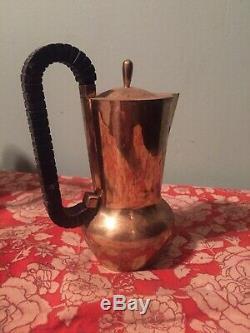 Exquis Vintage Gold / Cuivre Thé Café Art Déco