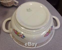 Fairbanks Ward Vintage China'sharon ' Or 22k Presque Complet Dîner Set Café