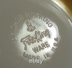 Fire King Ware Peach Luster Vtg Set De Six Tasses De Thé / Café Avec Des Sauces