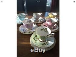 Harlequin Vintage Royal Standard 18pc Teaset Café Set Floral