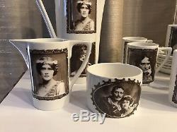 Idoles De Portmeirion Des Années 1970 De La Scène Café Mis En Valeur Rare! Expédition USA Gratuite