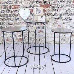 Karari Ensemble De 3 Tables D'appoint Rondes, Table D'appoint De Côté En Nid D'époque, Café
