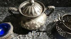 Lot 1 (5) Vintage Barbour Argent Quadruple Coffee Set Antique Silver Co Apollo