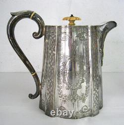 Lot De 4 Vintage Silverplate Tea Set Sugar Cream Teapot Coffee Pot Antique 809