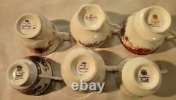 Lot Vintage Queens Porcelaine Anglais Bone Chine High Tea Coffee Cups Saucers Set