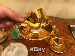 Mélangés Ensembles De Café 21 Tasses Soucoupes Cup Pot Milk Sucre Vintage German Bareuther