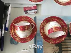 Nagase China Rare Vintage Set De Café, 6 Tasses Et Soucoupes, Pot À Lait Et Cafetière