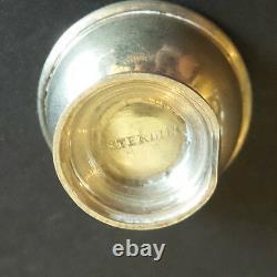 Nice Vintage Anglais Sterling Silver Miniature 3-pc. Ensemble De Café / Thé