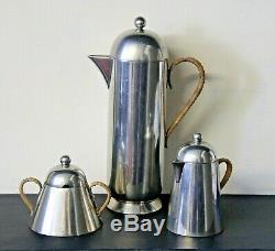 Nick Munro Collectables Service À Café Rare Vintage Vaisselle En Étain