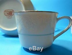 Noritake Fine Bone China Tahoe 2585 4 Piece Set Café En Dentelle Blanche Set Vintage