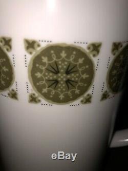 Noritake (japon) Progression Retro Vtg 70 Plein Café Set 17 Pièces Arabesque