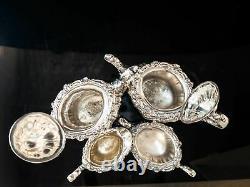 Old Silver Plate Tea Set Cafe Service Set Rosewood Par Gorham Ornate