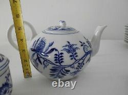 Original Vintage Zwiebelmuster Tchécoslovaquie Blue Onion Tea /coffee Set For 6