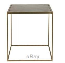 Petite Table D'appoint En Métal Tables De Salon Carrées Vintage