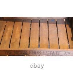 Porte-chaussures Vintage Industrial Rustic 2 Tiroirs À Table Basse, Avec Plateaux De Pommes De Terre