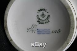Rare 21 Pc. Vintage Royal Copenhagen Broager Service À Café Demitasse Années 1950, Menthe