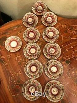 Rare Vintage 11 Tasses 12 Soucoupe Allemand Wunsiedel Bavière Service À Café En Porcelaine