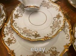 Rare Vintage 12 Tasses 12 Srs Pot Lait German Reichenbach Full Mocca Cafe Set