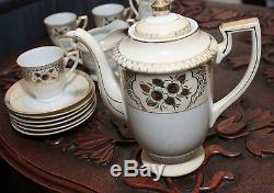 Rare Vintage (1920) Fine China Chikaramachi Set Complet Pour 6 Personnes Sku15087