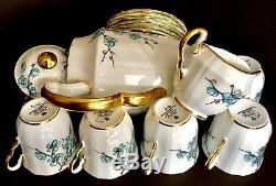 Rare Vintage (1947) Adderley Chinese Blossom Service À Thé / Café En Porcelaine Anglaise