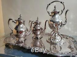 Rare, Vintage F. B. Rogers Silver Company 4 Pièces Thé / Café Ensemble