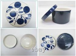 Rare Vintage Melitta Allemagne Cobalt Blue Floral Stockholm Pattern 1970s Tableau