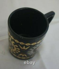 Rare Vintage Portmeirion Copte Brocart Coffee Set 15 Pièces