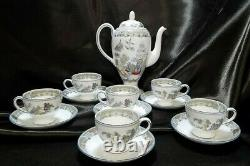 Rare Vintage Wedgewood Angleterre Chinese Legend Coffee/tea Set