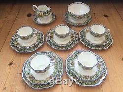 Royal Daulton 1927 Art Déco Fine China Tea Set Café Antique Vintage