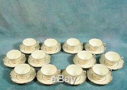 Royal Doulton Vintage Tea Coffee Set Gold Bords Incrustés Crème 1938 V1926