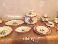 Royal Sep Madonna Vintage 91pc Grand Dîner Et Service À Thé / Café, Service Pour 12