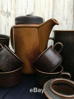 Service À Café Arabia Ruska, Céramique Vintage De Finlande, Ensemble Antique Arabia Ruska