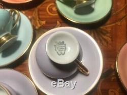 Service À Café Avec 24 Tasses Et 24 Assiettes Rare Service À Café Maleri Vintage En Porcelaine De Copenhague, Danemark