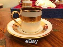 Service À Café En Porcelaine Plaquée Or, France