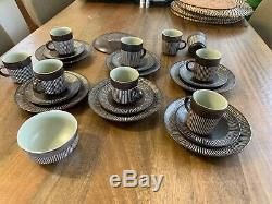 Service À Café Vintage 20 Pièces Amazonas, Danemark, Keramic, Signé Einer Hellroe
