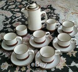 Service À Café Vintage En Céramique Roue Denby Potters Wheel En Parfait État