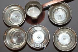 Service À Café Vintage En Cuivre Turc Avec 5 Tasses