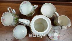 Service À Café Vintage Royal Albert Kentish Rockery C1935 22 Pièces
