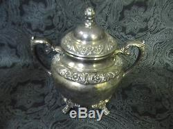 Service À Thé / Café 3 Pièces Vintage Rogers Bros. Heritage 1847 Silverplate