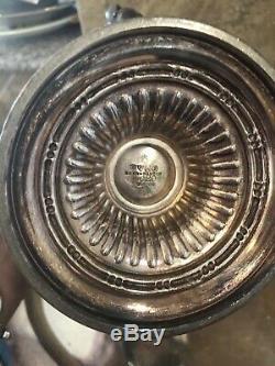 Service À Thé / Café En Métal Plaqué Argent Vintage Reed & Barton Avec Initiales H Estampées