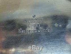 Service À Thé Et À Thé Rose En Argent Sterling Vintage De 5 Pièces De Reed & Barton