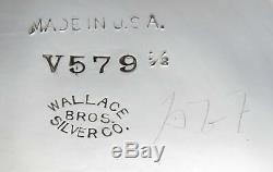 Service À Thé Et Café Gravés À La Main, Vintage, Wallace, 5 Plaques D'argent