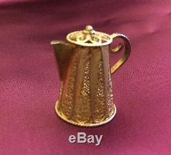 Service À Thé Et Café Miniature En Filigrane Miniature 7 Pièces