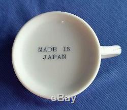 Service À Thé Japonais Vintage Café / Pot En Porcelaine De Chine Avec Fleur, 17 Pièces