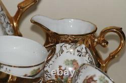 Service Café Porcelaine Ancienne Ou Rococo Italie Vintage Gold Mocca Coffee Set